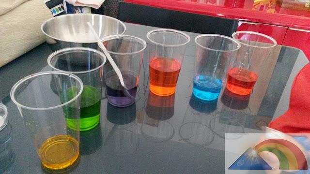 Trasvases y mezclas de colores