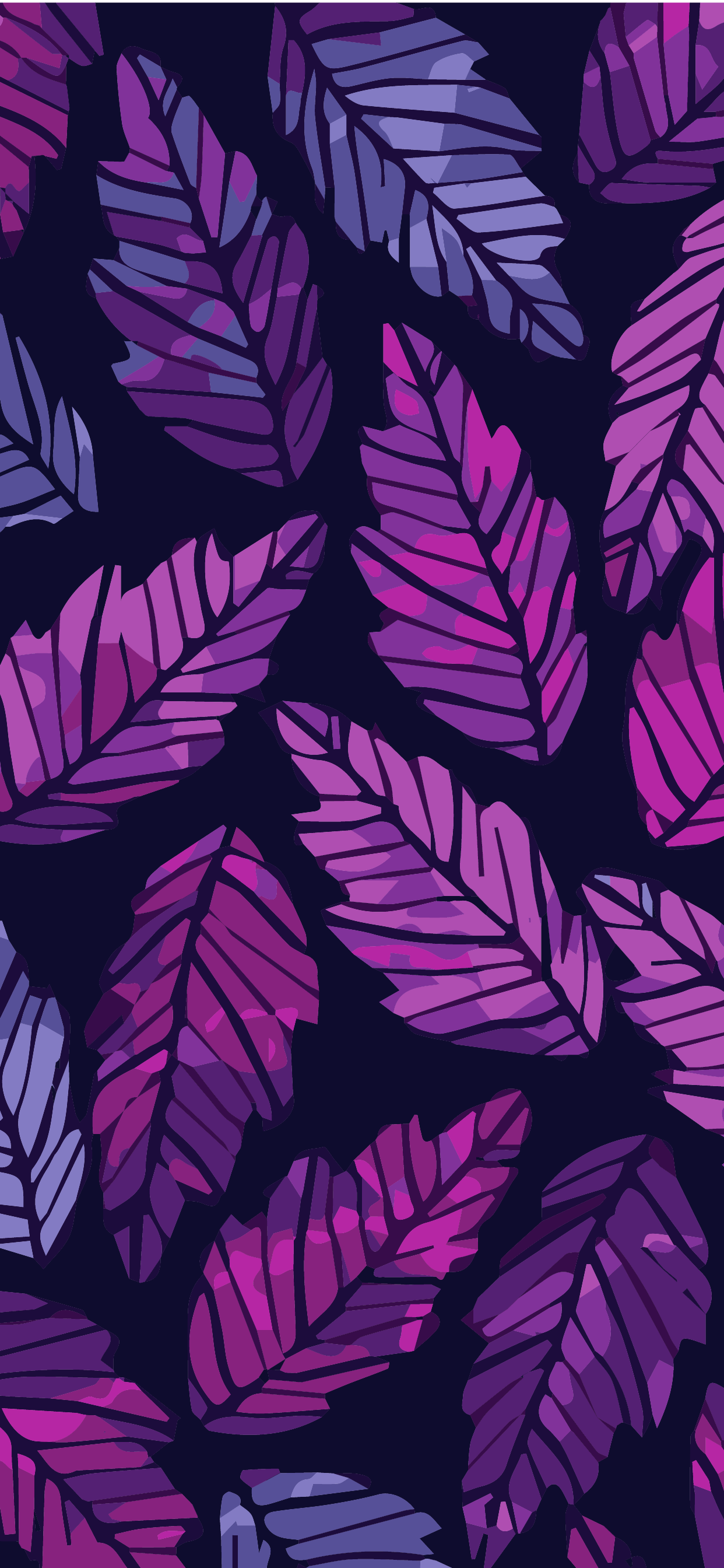 phone wallpaper pattern hd leaf aesthetic purple and pink