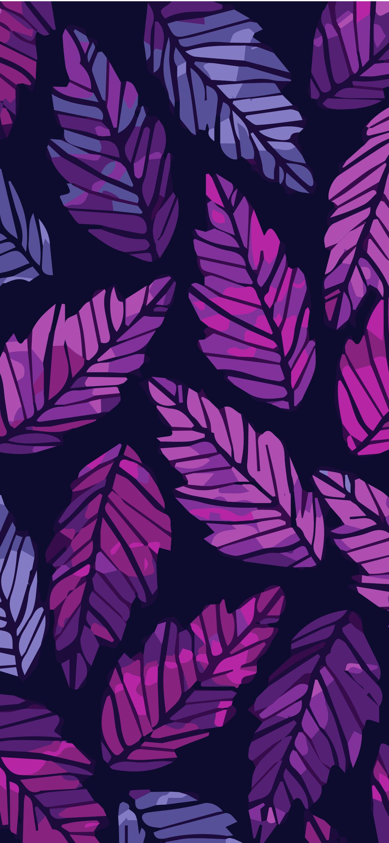 Phone Wallpaper Hd Purple Leafs Heroscreen Cool Wallpapers