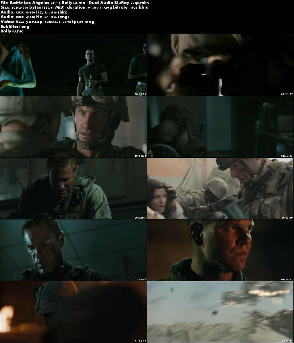 Battle Los Angeles 2011 BluRay 850MB Hindi Dual Audio 720p Download