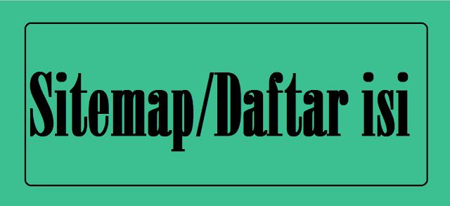 Cara Membuat Laman Sitemap di Blogger