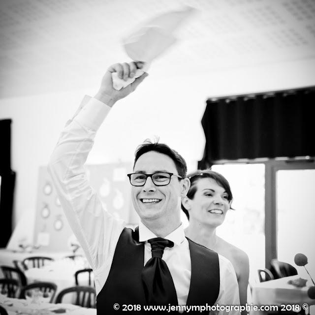 reportage mariage animations repas photo noir et blanc