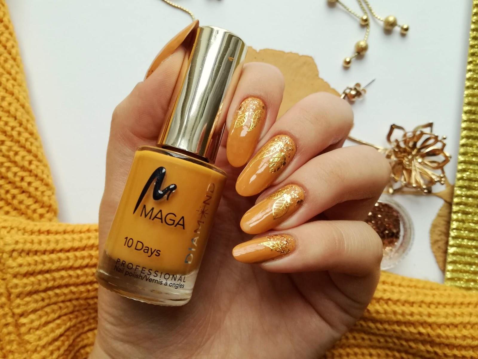 paznokcie ze złotym