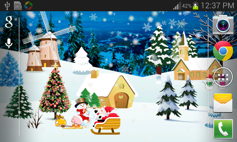 [Android] 聖誕動態桌布免費 - 軟體罐頭