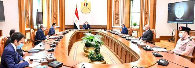 الرئيس يتابع المشروعات التنموية في مجال الزراعة في محافظة الوادي الجديد