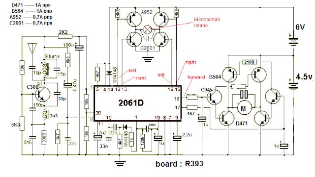platine - board r393 - 2061D Nikko diagram