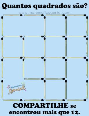 Desafio: Quantos quadrados são?