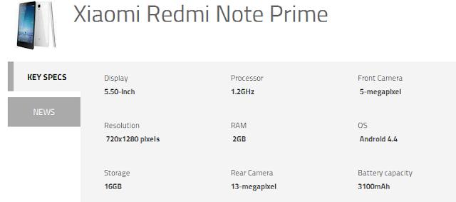 redmi specifications