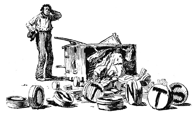 "an A.B. Frost book illustration, ""contents"""