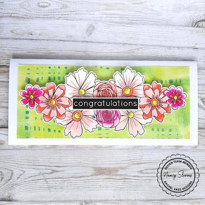 Rachel Vass Designs - Fun Flowers Slimline