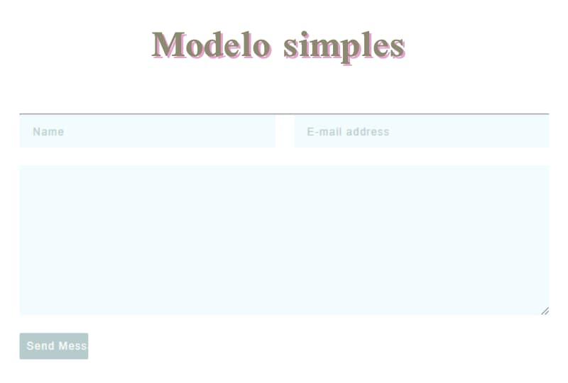 modelo simples