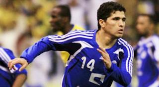 Tariq Al-Tayeb celebrates طارق التايب يحتفل