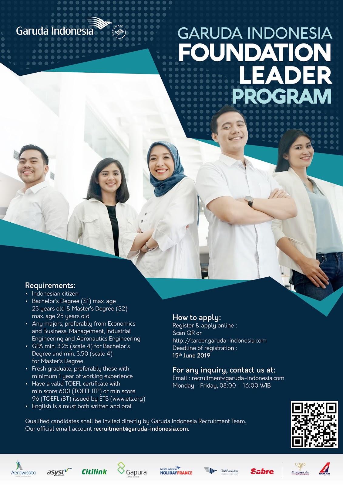 Lowongan Kerja Terbaru PT Garuda Indonesia (Persero)