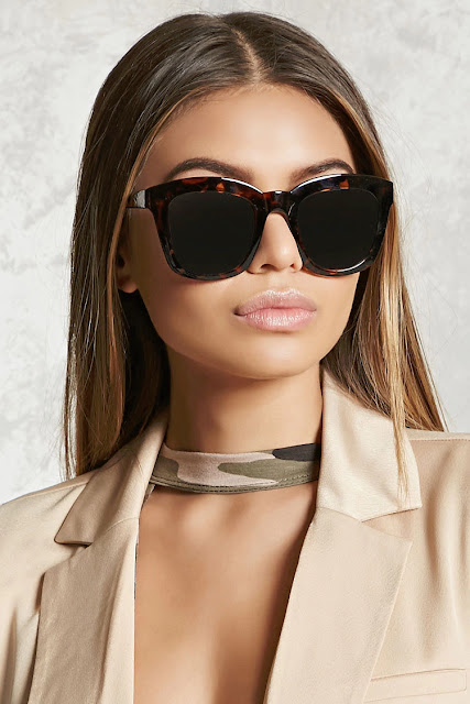 brown cat eye style sunglasses