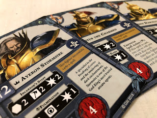 Stormcast character cards from Warhammer Underworlds: Nightvault