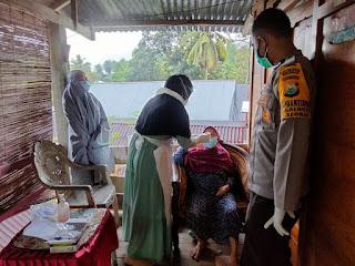 Dampingi Tim Tracer Covid-19, Briptu Ilham ikut Lakukan Tracing kepada Kontak Erat Pasien Covid-19