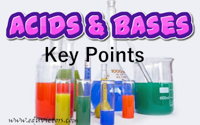 Class 10 - Chemistry - Chapter - Acids and Bases - Keys Points To Remember (#class10Chemistry)(#cbsenotes)(#eduvictors)