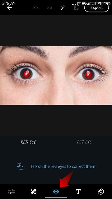 red eye peoblem fix