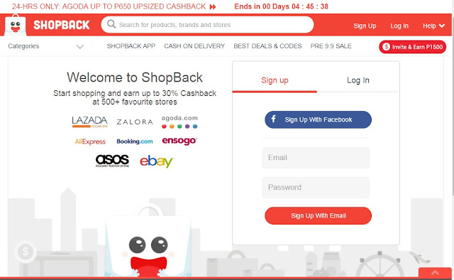 shopback, sign-up