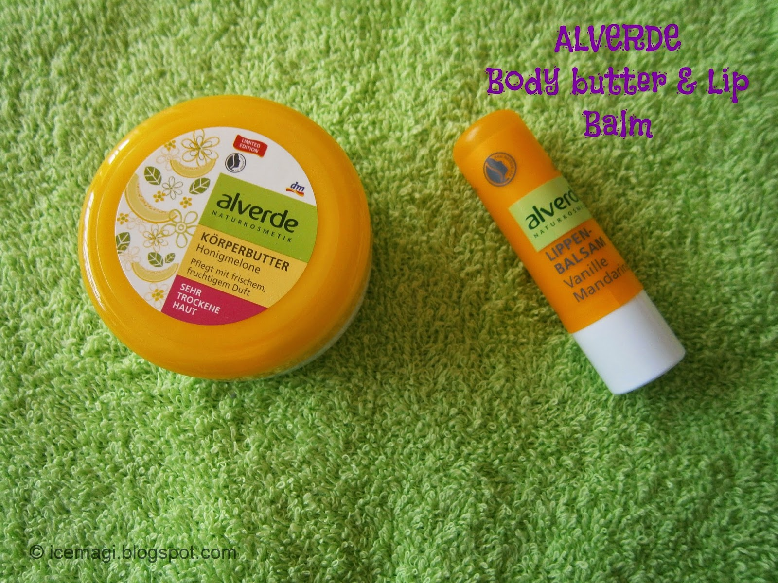 Alverde body butter lip balm