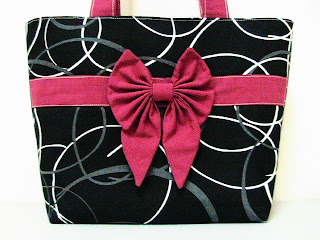 Circle Bow Tote Bag