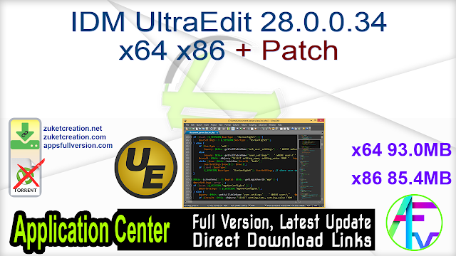 IDM UltraEdit 28.0.0.34 x64 x86 + Patch