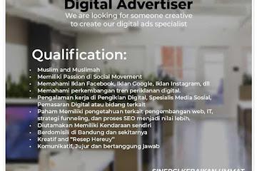 Lowongan Kerja Digital Advertiser Kebaikan Ummat