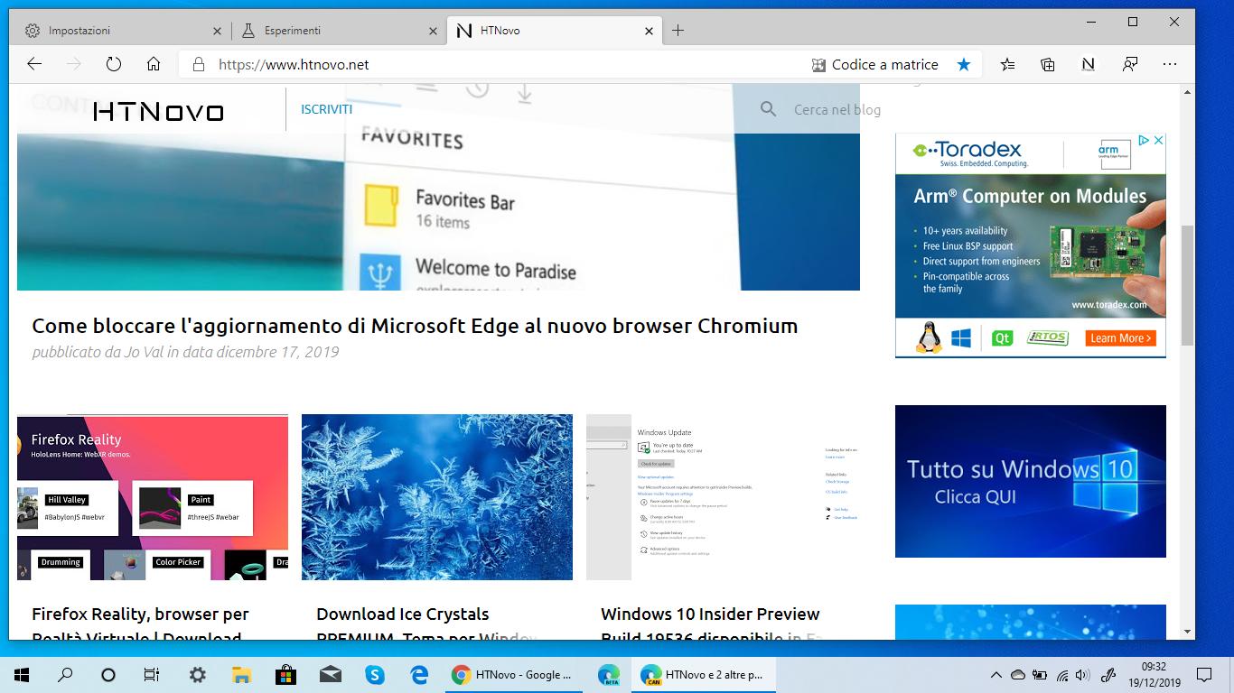 Condividere pagine Web da Microsoft Edge tramite codice QR
