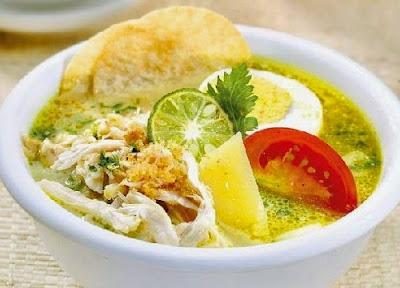 Resep Soto Ayam Kuah Kuning Santan