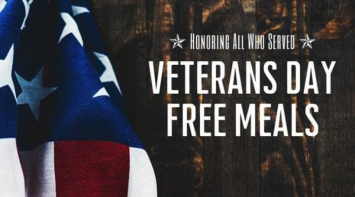 Free Food And Discounts For Veterans Day in United States