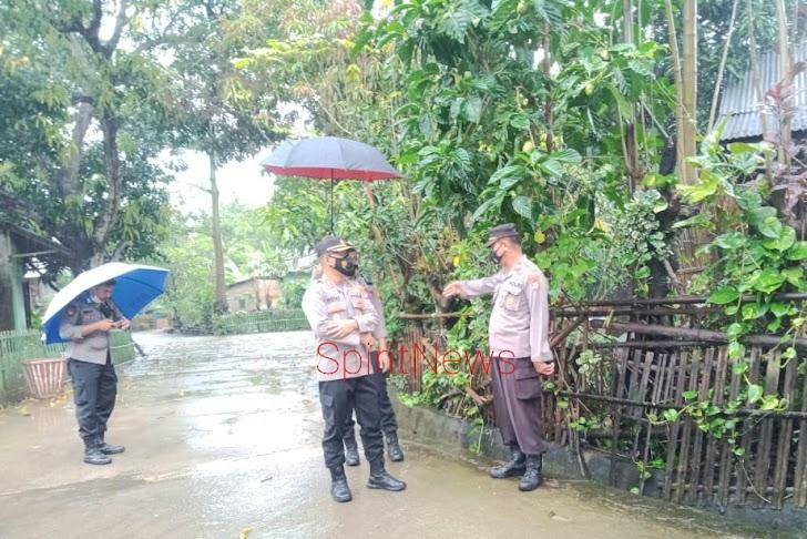 Kapolres Takalar, Pantau Langsung Lokasi Banjir di Wilayah Polsek Polsel