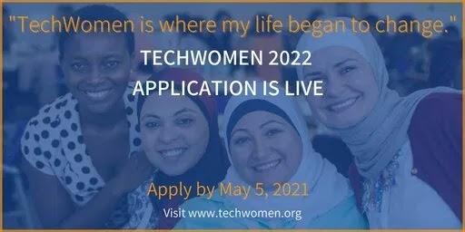 100+ bourses d'etudes du Programme TechWomen du gouvernement américain 2021 pour les femmes dans les domaines des STEM