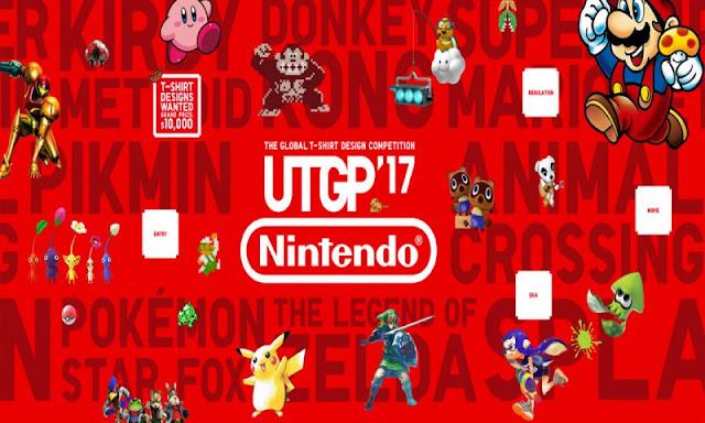 A Nintendo se alia com a empresa de camisetas japonesa UNIQLO para um concurso de desenho de camisetas.
