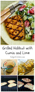 Grilled Halibut with Cumin and Lime found on KalynsKitchen.com