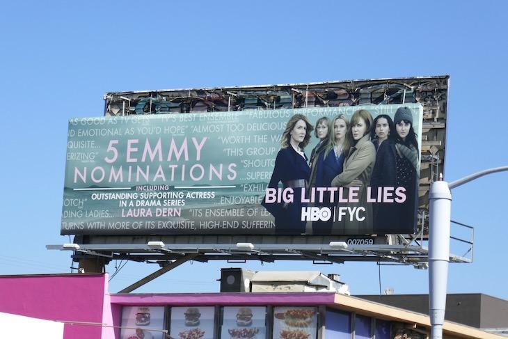 Big Little Lies season 2 Emmy nominee billboard