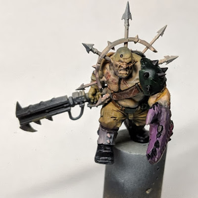 Ogryn with non metallic elements painted