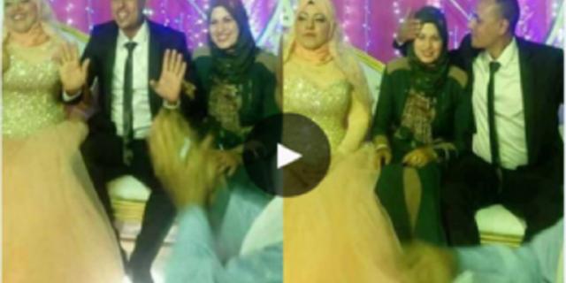 من تستطيع ان تفعلها منكم زوجة تحضر حفل زفاف زوجها على عروسه الجديدة... وما فعلته لا يصدق