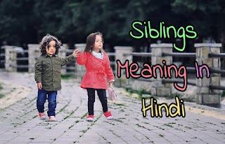 Siblings in hindi