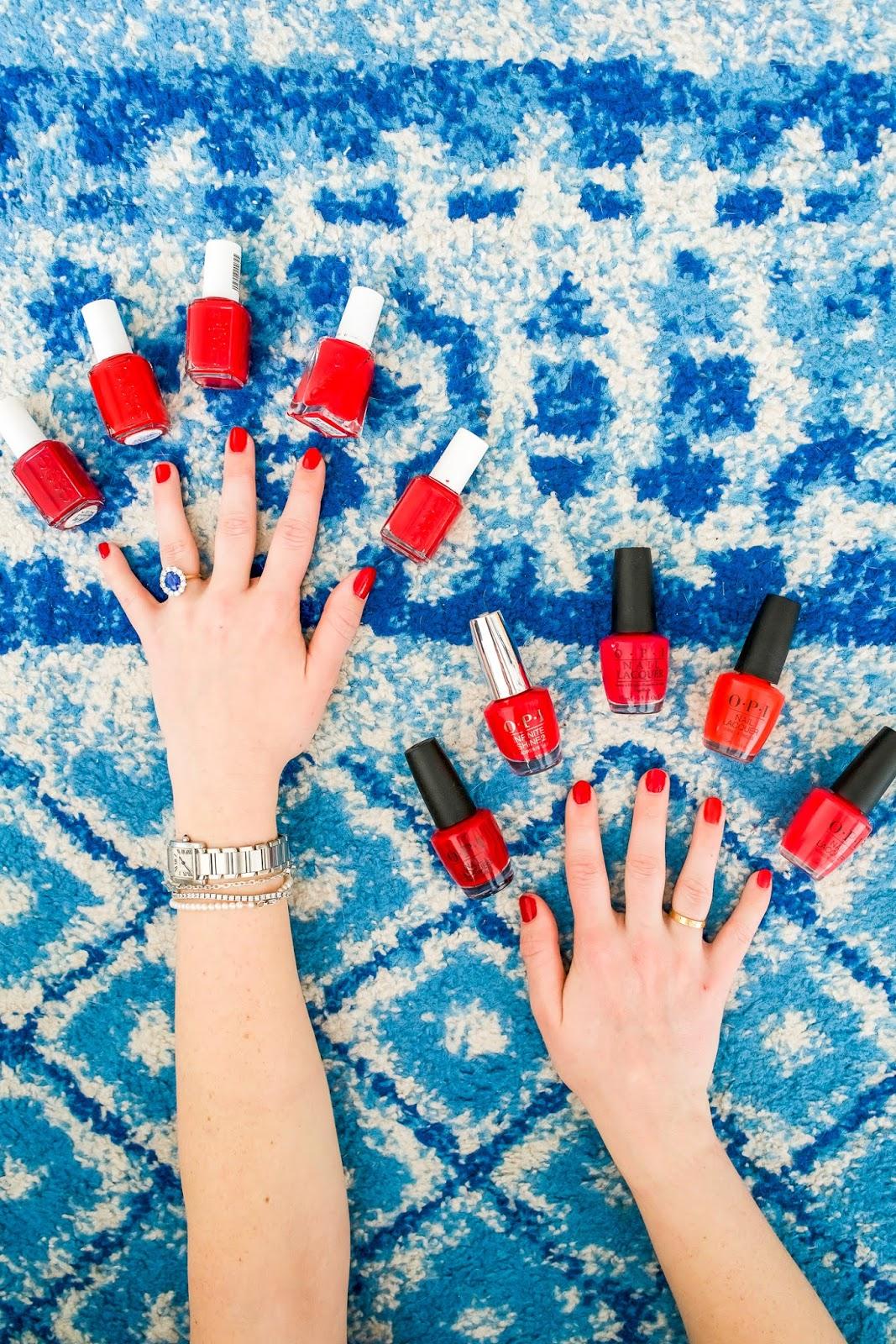 My Favorite Red Nail Polish Essie Opi New York City Fashion