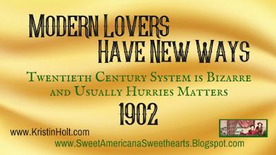 Kristin Holt | Modern Lovers Have New Ways, 1902
