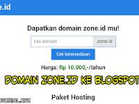 Cara Membeli dan Menghubungkan Domain Zone.id Ke Blogspot