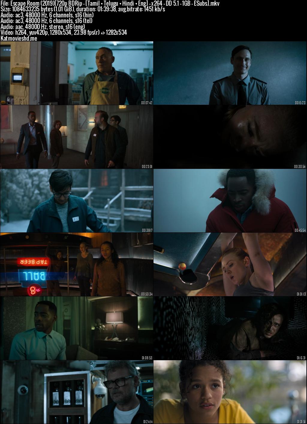 Screenshot of Escape Room 2019 Full Movie Download BDRip 720p