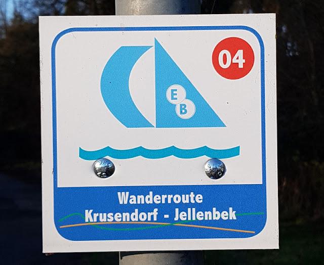 Küsten-Spaziergänge rund um Kiel, Teil 5: Jellenbek - Strand - Krusendorf - Jellenbek. Eine tolle Wanderroute an Küste und Meer!