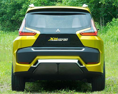 Tinuku Mitsubishi XM Concept luxurious style design displayed on small crossover MPV