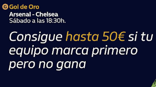 william hill Gol de Oro Arsenal vs Chelsea 1-8-2020