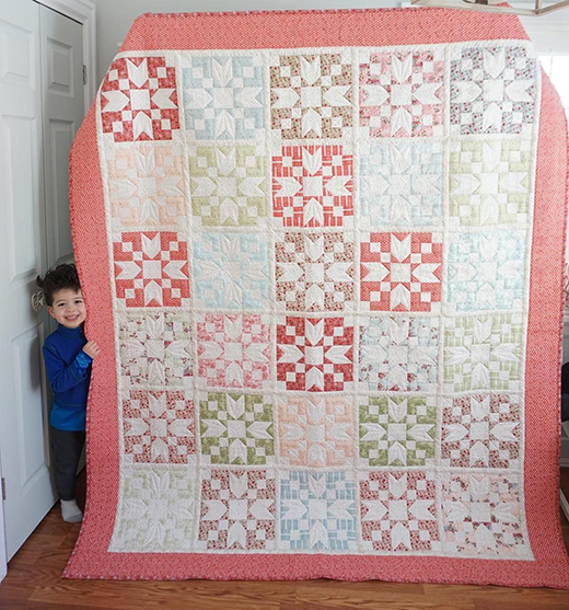 Loyal Heights Quilt Free Pattern designed by Jera Brandvig for Quilting in the Rain