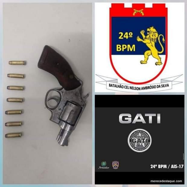 Equipe do Gati apreende arma de fogo em Santa Cruz do Capibaribe