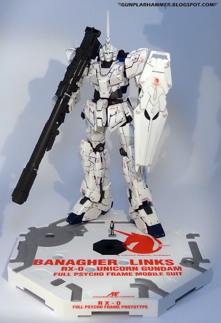 RG 1/144 Unicorn Gundam RX-0 Realgrade no paint Bazooka Action base Banagher Links