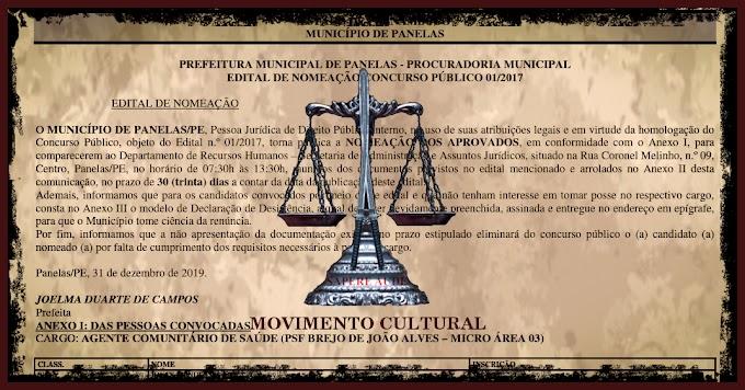 VITÓRIA - CONVOCAÇÃO CONCURSO PÚBLICO DE PANELAS