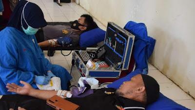 Polres Bone Gelar Donor Darah Sambut HUT Bhayangkara ke-75